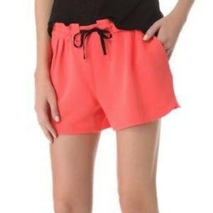 Rag & Bone Coral Drawstring Shorts Size Medium